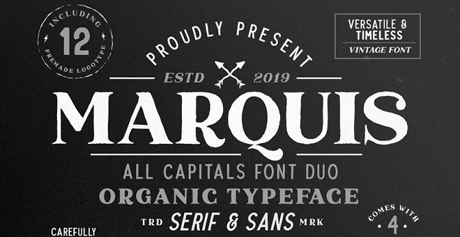 Marquis Organic Font Duo (+EXTRAS)