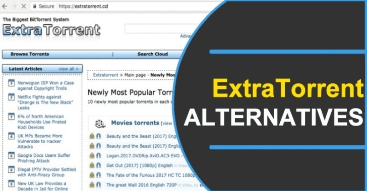 Alternatives of the ExtraTorrent