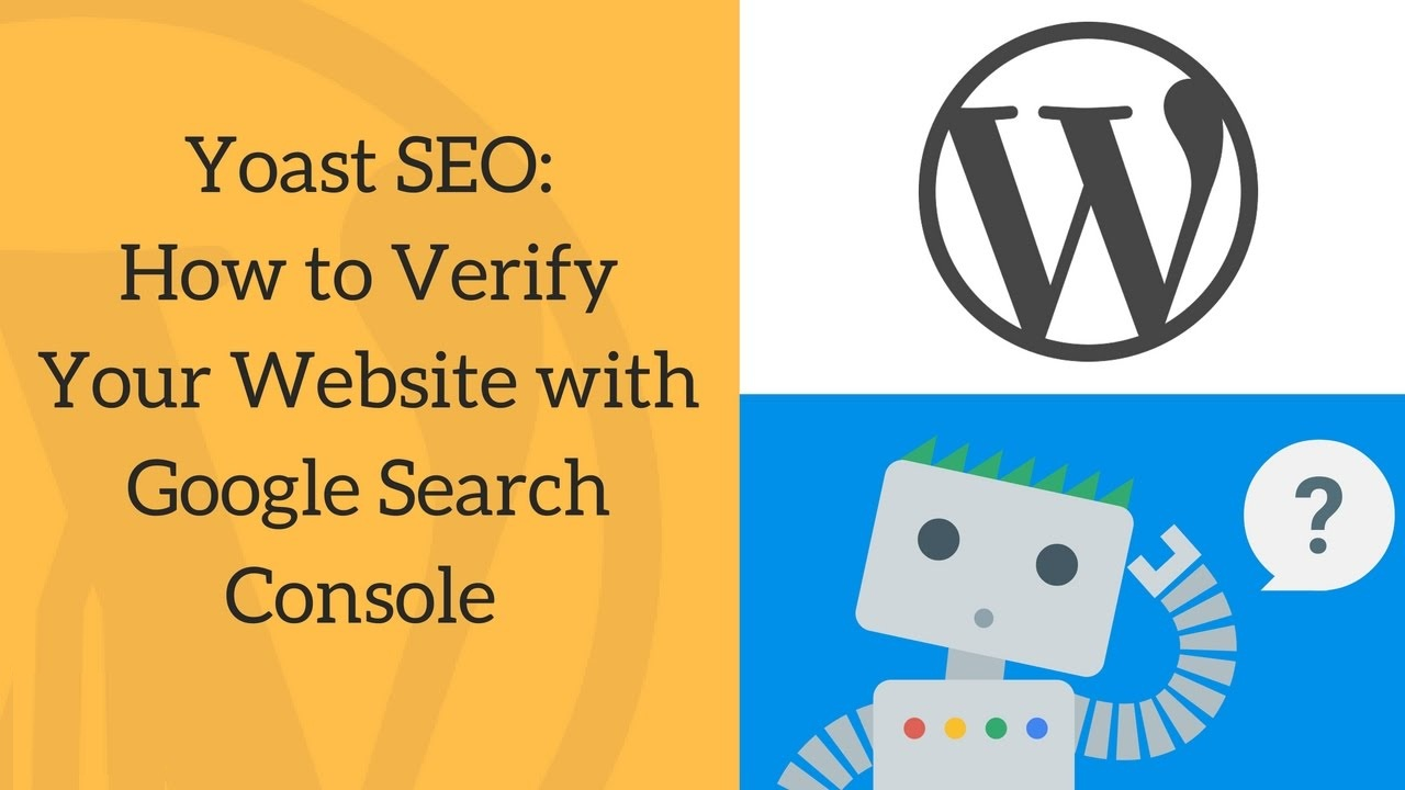 """Connect your WordPress plugin """"Yoast SEO"""" with Google Search Console"""