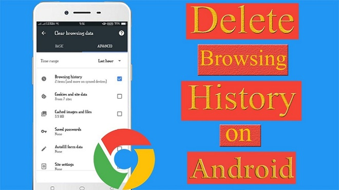 Delete browsing history on Google in Android
