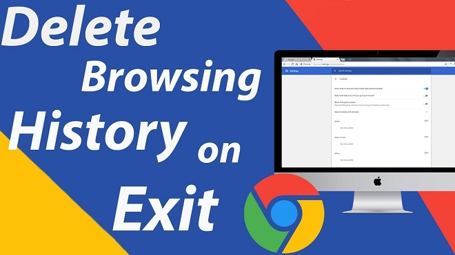 How to set Google Chrome to erase browsing history on exit